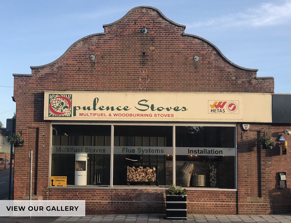 front view of Opulence Stove building